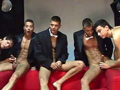 The Visconti triplets in smokings for a new hot photoshoot daddy gay porn