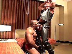 Black slave serves lusty mature gay daddy gay porn