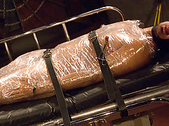 Mummification: (mum'i-fi-ca'tion) n. Make or become a mummy. Contrasting standard mummificaion which uses seran wrap and duct tape we have chosen palet wrap 'cuz it is stronger than seran and as u sweat and give off body heat the wrap instigates to fuse daddy gay porn