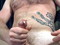 Tattoed stud having some hot solo masturbation fun here daddy gay porn