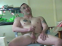 Hot beefy military dude jerking his cock off in here ! daddy gay porn
