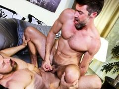 Max is heading out to work and Justin is passed out in bed. Max leans in to say goodbye to his lover but Justin doesn't want him to go and begins daddy gay porn