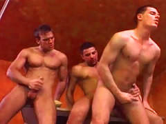Hot studs havin sex in public