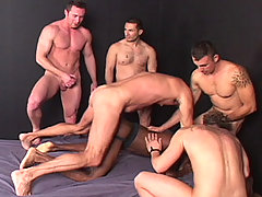 Gay Bareback Calvin, Marco, Kevin and Antonio