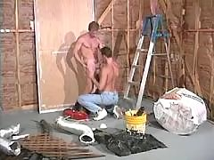 Beefy studs in steamy anal session daddy gay porn