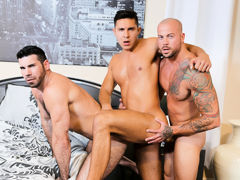 The Santoro's have acceded to bring in a number 3 for the evening and they do a text book 3 way. Sean is hyped to be the lucky man sucking, licking and fucking with dual lovers. The Santoro's love to share with the right person and this hot encounte daddy gay porn