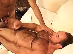 Well hung guys chock off each other daddy gay porn