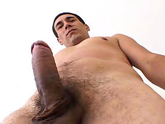 Handsome man with really hot body jerking off his hard dick daddy gay porn