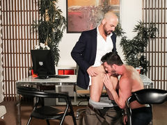Andy has received an advise from the biggest law firm in Los Angeles that this boy only couldn't refuse. As this boy and his wife get all set to leave to meet Adam Russo, the man who made their dreams possible, Andy begins to feel a little anxious.In his daddy gay porn