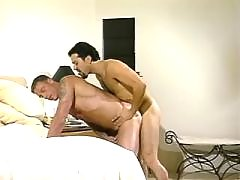 Latino hunk jerks off and eats jizz