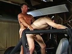 Macho assfucked and get himself off daddy gay porn