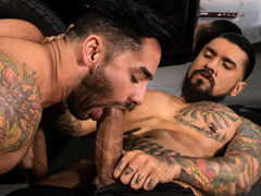 Bruno Bernal enters the shop to find Boomer Banks hard at put into below a pickup. Bruno helpfully passes a equipment to Boomer, but Bruno's hand drifts down to explore the massive equipment in Boomer's pants. Boomer's monster meat is an irresistible temp daddy gay porn