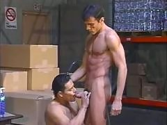 Sex addicted dudes fucking by chain
