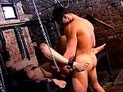 Master tie that slave up and uses him as a sex toy in here ! daddy gay porn
