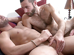 Scruffy heartthrob Seth seeds Marcos Mateo in this scene. Marcos instigates by eagerly deep-throating Seth's thick shaft. Seth then lubes up Marcos' hole with a deep tonguing before thrusting his uncovered cock deep inside. The look on Marcos' face i daddy gay porn