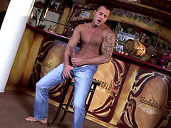 Jason Visconti plays with his cock to have explosive orgasm