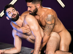 Intense mouth to mouth erupts among Adam Ramzi and Tegan Zayne. Their hands grope per other's as mother gave birth bodies and hard cocks, and their tongues explore per other's mouths. The connection among these two hairy studs shoves per with a lust for m daddy gay porn