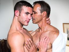 Killian James is Rodney Steele's assistant, he is reminding him about all the tasks that need to be completed. Rodney complains to Killian that he is close to a burn out, he immediately takes advantage of his hot boss's breakdown and massages his tense ne daddy gay porn
