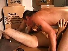 Sweet gay jizzed after sloppy oral daddy gay porn
