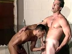 Military stud gets huge cock sucked daddy gay porn