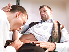 School medic Julian Vincenzo fucks his patient Philip Mclean daddy gay porn