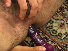 Gay dude likes the feeling of a dildo in his tight asshole daddy gay porn