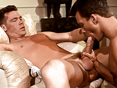 B.J. uses his gargantuan cock to drill Adam's firm butt ! daddy gay porn