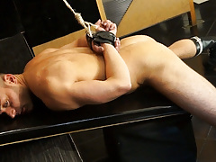 Leonardo is fastened up and locked in a dungeon cage. 10 cameras are recording him while a voice tells him what to do if this guy wants to escape. How far will this guy go to manageable the locks?